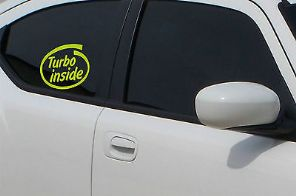 Turbo Inside Sticker Decal Car Van TDI VAG Audi Adhesive Exterior